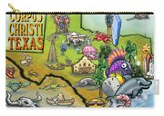Corpus Christi Texas Cartoon Map Carry-all Pouch