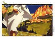 Cortina Dolomiti Italy Vintage Poster Restored Carry-all Pouch