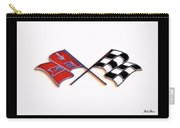 Corvette Flags On White Carry-all Pouch