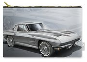 Corvette Sting Ray 1963 Silver Carry-all Pouch