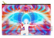 Cosmic Spiral 77 Painted Carry-all Pouch by Derek Gedney