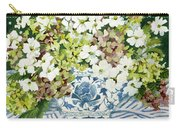 Cosmos And Hydrangeas In A Chinese Vase Carry-all Pouch