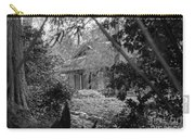 Cottage Black White Gardens Louisiana  Carry-all Pouch
