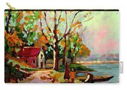 Cottage Country The Eastern Townships A Romantic Summer Landscape Carry-all Pouch by Carole Spandau