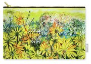 Cottage Gate Seen Through Sun Daisies Carry-all Pouch