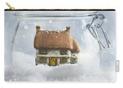 Cottage In Snow Carry-all Pouch