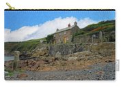 Cottage On Rocks At Port Quin - P4a16009 Carry-all Pouch