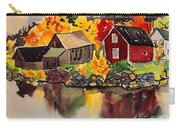 Cottages By A Lake In Autumn  Carry-all Pouch