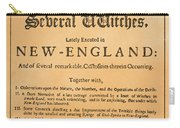 Cotton Mather, 1693 Carry-all Pouch by Granger