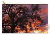 Cottonwood Sunset Silhouette Carry-all Pouch