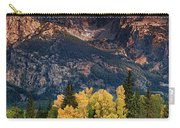 Cottonwoods Fir Trees Fall Color Grand Tetons Nat Carry-all Pouch by Dave Welling