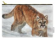 Cougar In The Snow Carry-all Pouch
