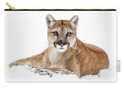 Cougar On White Carry-all Pouch