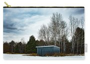 Country Barn In The Snow Carry-all Pouch