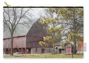 Country Barn With Pine Tree Carry-all Pouch