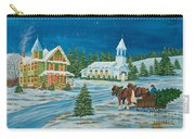 Country Christmas Carry-all Pouch by Charlotte Blanchard