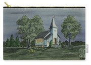 Country Church On A Summer Night Carry-all Pouch