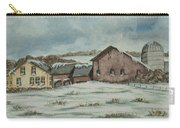 Country Farm In Winter Carry-all Pouch