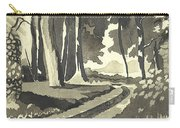 Country Lane In Evening Shadow Carry-all Pouch