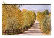 Country Road Autumn Fall Foliage View Of The Twin Peaks Carry-all Pouch