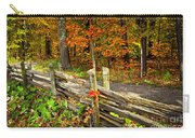 Country Road In Autumn Forest Carry-all Pouch