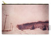 Country Road In Snow Carry-all Pouch by Jill Battaglia