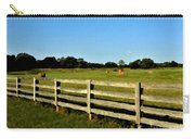 Country Scene With Field And Hay Bales Carry-all Pouch