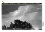 County Line Northern Colorado Lightning Storm Bw Pano Carry-all Pouch by James BO  Insogna