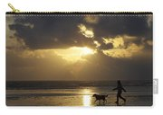 County Meath, Ireland Girl Walking Dog Carry-all Pouch