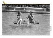Couple Relaxing In Pool, C.1930-40s Carry-all Pouch