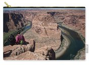 Couple Viewing Horseshoe Bend High Up Edge  Carry-all Pouch