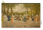 Couples On Veranda Of Chateau Carry-all Pouch