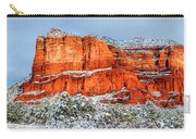 Courthouse Butte And Bell Rock Under Snow Carry-all Pouch