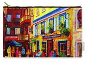 Courtyard Cafes Carry-all Pouch by Carole Spandau