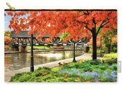 Covered Bridge Along Riverwalk Carry-all Pouch
