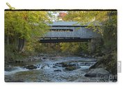 Covered Bridge Over Brown River Carry-all Pouch