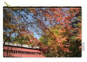 Covered Bridge Over The Swift River In Conway Carry-all Pouch