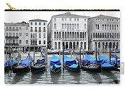 Covered Gondolas In Blue Carry-all Pouch