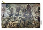 Covered Wagon Attacked By Indians Carry-all Pouch