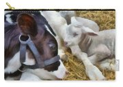 Cow And Lambs Carry-all Pouch