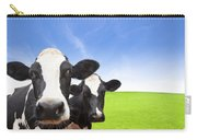 Cow On Green Grass Field Carry-all Pouch