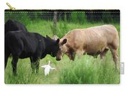 Cow Playing Head Games Carry-all Pouch