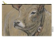 Cow Portrait Painting Carry-all Pouch