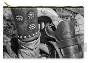 Cowboy And Six Shooter Bw Carry-all Pouch