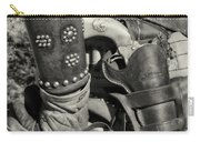 Cowboy And Six Shooter Bw Sepia Carry-all Pouch