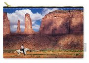 Cowboy And Three Sisters Carry-all Pouch
