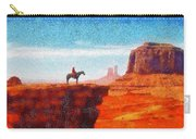 Cowboy At Monument Valley In Utah - Da Carry-all Pouch