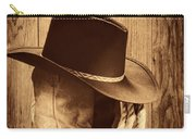 Cowboy Hat On Boots Carry-all Pouch