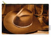 Cowboy Hat - Sepia Carry-all Pouch