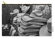 Cowboy Hats Black And White Carry-all Pouch